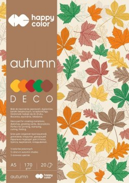 Blok Deco Autumn 170 g/m2, A5, 20 listů, 5 barev