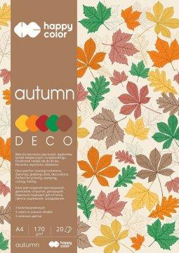 Blok Deco Autumn 170 g/m2, A4, 20 listů, 5 barev