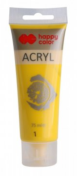 Akrylová barva v tubě 75 ml, žlutá
