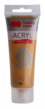 Akrylová barva METALIC v tubě 75 ml, zlatá