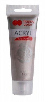 Akrylová barva METALIC v tubě 75ml, růžové zlato