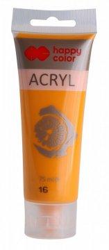 Akrylová barva v tubě 75 ml, tmavě žlutá