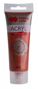 Akrylová barva METALIC v tubě 75 ml, měděná