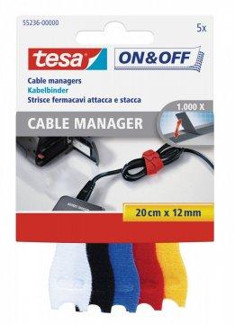 Správce kabelů - malý, 5ks, různé barvy, 12mm x 200mm
