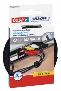 Správce kabelů, černý, 5m x 10mm