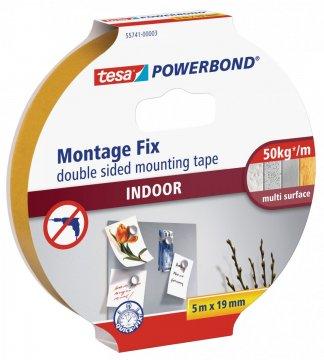 Montážní oboustranná pěnová páska pro interiér, bílá, 5m x 19mm