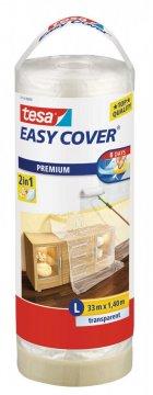 Easy Cover, kombinace fólie a malířské pásky, náplň, průhledná, 33m x 1,4m