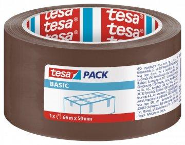 Balicí páska BASIC, základní, hnědá, 66m x 50mm