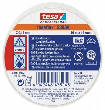 Elektroizolační PVC páska, splňuje normu IEC, bílá, 20m x 19 mm