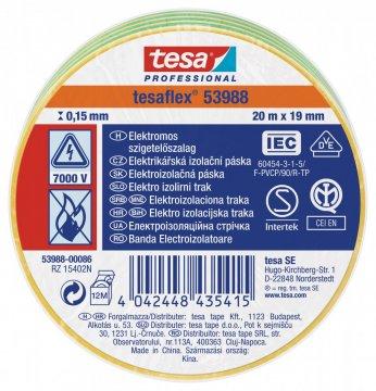 Elektroizolační PVC páska, splňuje normu IEC, žluto-zelená, 20m x 19 mm